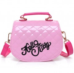 New Cute Mini Bag Children Hello Kitty Handbag For Women Cartoon Cat PU Waterproof Should Bag Kids Girls Fashion Messenger Bags