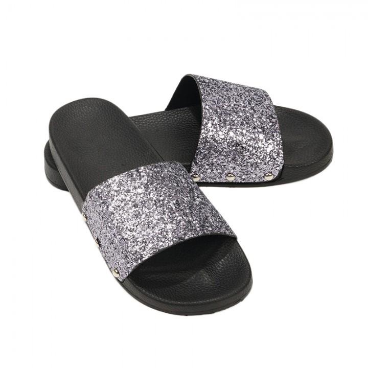 9cb9cea1e Women Slippers Flip Flops Peep Toe Sandals Glitter Slippers Sandals Platform  Summer Slippers as picture 6.5