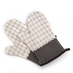 2Pcs Japanese Microwave Oven Glove Cotton Insulated Non-slip Glove Thickening High Temperature Ove