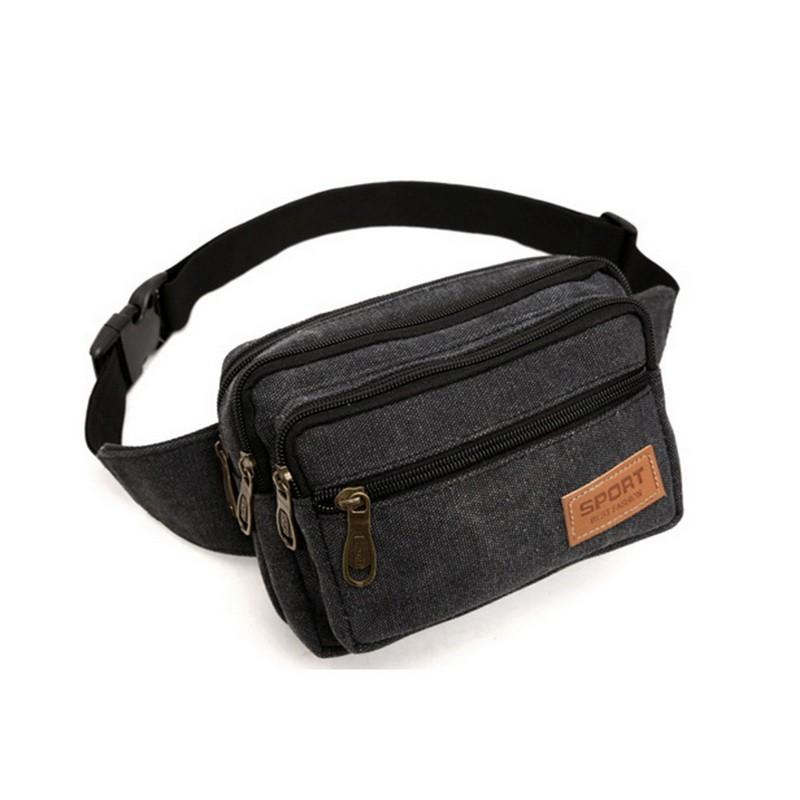 1b114c68253 Casual Canvas Waist Bags Men Funny Pack Men s Belt Bag Men Chest ...