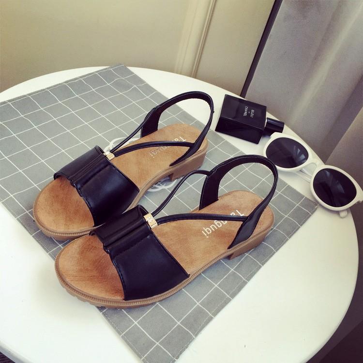2d1a24cb66f ... peep-toe flat lady comfortable beach Shoes Roman walking sandals girl  sandalias  Product No  611227. Item specifics  Seller SKU pajhD  Brand