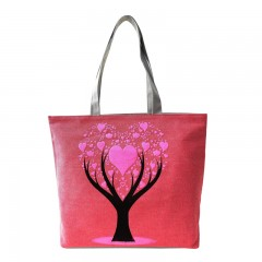 Casual Handbags Tote Canvas Heart Trees Shopping Shoulder Bags Women Handbag Dandelion Tote HandBa