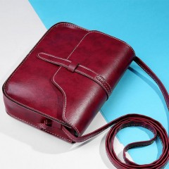 Fashion Women Handbag PU Leather Crossbody Messenger Bag Vintage Shoulder Bags Briefcase Popular
