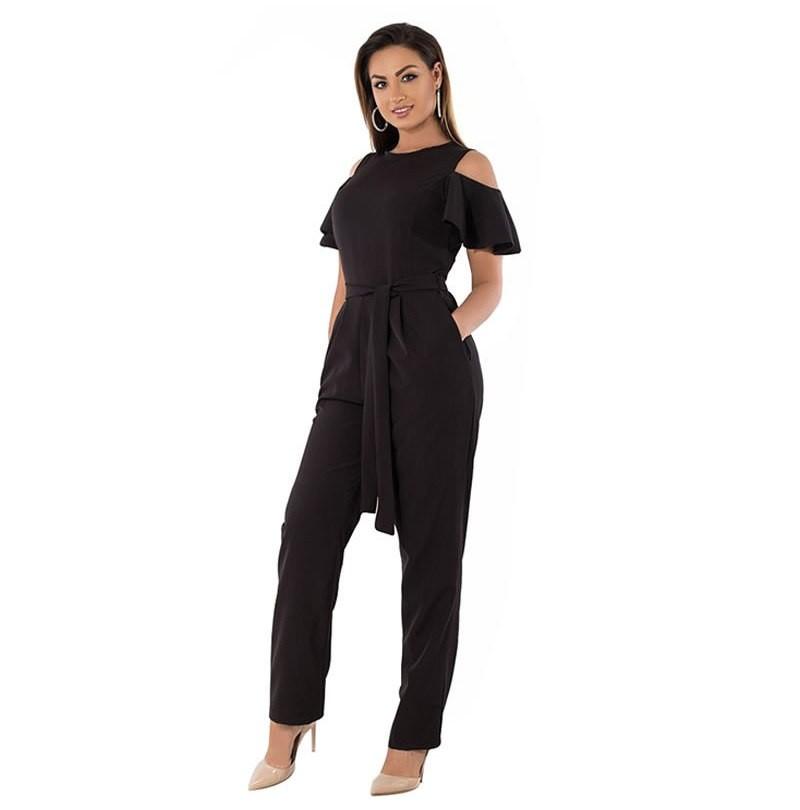 3e9e52d6ddf Fashion Short Sleeve Summer Rompers Women Jumpsuit 2018 Plus Size ...