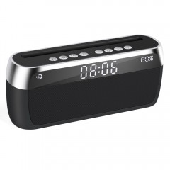 Clock Bluetooth Speaker Handsfree Wireless Stereo Music Player Support FM Radio TF Line in Loudsp