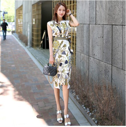 d273dbef5b3 Korean Dress Summer Womens Elegant Slim Work Wear Office Business printing  Casual Bodycon Dress  Product No  688536. Item specifics  Seller  SKU FBNnaoufFE ...
