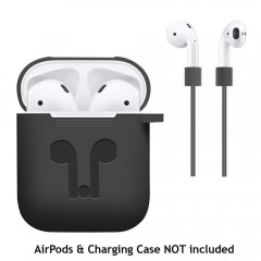 Cover for Apple AirPods + AirPod Strap Silicone Protective Charging Sport Cover Skin Case Carabin