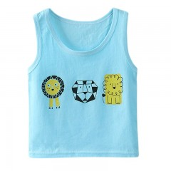 New Boys Clothing  Children Sleeveless Cotton Cartoon Vest Baby Vest 1-5T With Cartoon Pattern Co