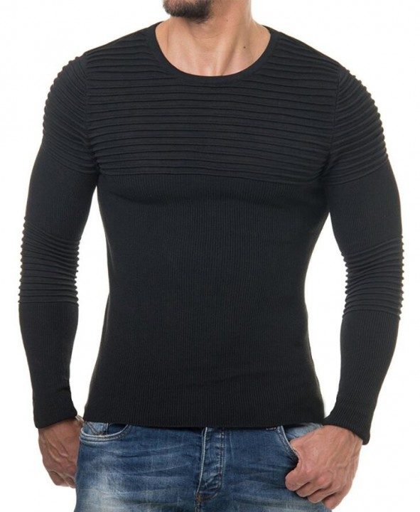 Autumn Winter Pullover Men Sweater Jumper o Neck Pattern Slim Fit Knitted Solid Color Sweaters Kn