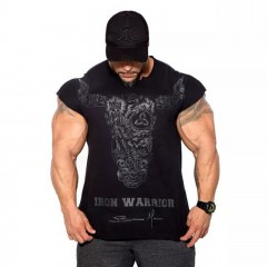 BULKING Brand Men cotton t shirts fashion Casual gyms Fitness workout Short sleeves tees 2018 sum