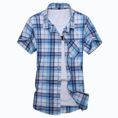 Mens Shirts With Short Sleeve Cotton 2018 Summer Casual Shirt Men Plus Size Shirts For Men Plus S