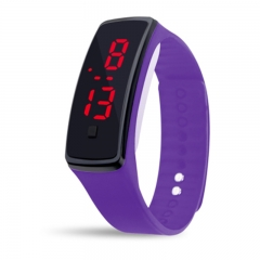 Casual Wristwatch Candy Color Sport LED Watch  Silicone Rubber Touch Screen Digital Watches purple