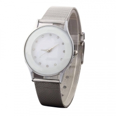 Fashion Casual Luxury Men's Stainless Steel Band Quartz Analog Wrist Watches White