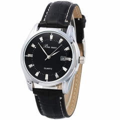 Men's Luxury Sport Analog Quartz Stainless Leather Watches Wrist Watch Gift as picture 1
