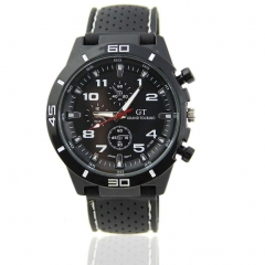 Fashion Men Luxury Black Stainless Steel Analog Quartz Sport Wrist Watch  #A Black