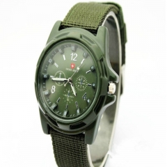 New Famous Brand Men Watch Army Soldier Military Canvas Strap Fabric Analog Quartz Wrist Watches Outdoor Sport Wristwatches green