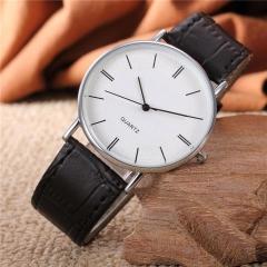 New Simple Korean Watch Students' Lovers Quartz Watch Retro Wrist Watches Round Bright Blue A