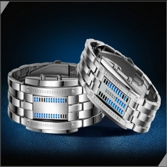 Led Displayer Luminous Sports Watches silver