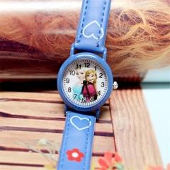 Cute Cartoon Child Kids Unisex Sports Pu Leather Strap Quartz Wrist Watch y0 Blue
