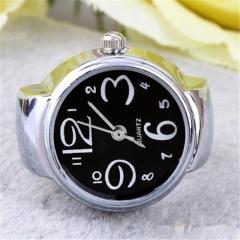 Fashion Women Girls Classic Alloy Geneva Quartz Stainless Steel Wrist Watch Black