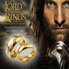Lord of the Rings Stainless Steel The One Ring Hobbit Gold Ring As Pic 1 One size
