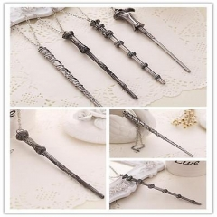 Magic Wand Of Harry Alloy Pendant Necklace Movie Harry Potter Unisex Accessory L As Pic 1 One size