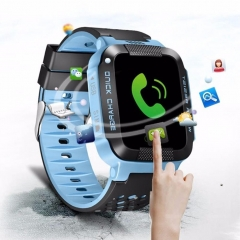Children Study Play Touch Screen Smart Watch Outdoor Tracker SOS Watch Hotsale Blue
