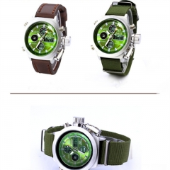 Unisex Dual Display Multifunction LED Women's Men's Sports Wrist Watch Gift IP As Picture