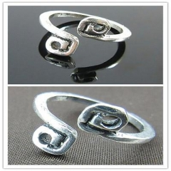 Silver Adjustable Antique Metal Toe Ring Foot Hawaiian Beach Sand Party T7 Silver One size