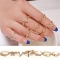 7PCS Women Ladies Middle Finger Knuckle Tip Rings Set Gift Party Jewelry Rings ( Gold One size