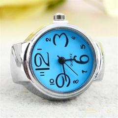 Fashion Women Girls Classic Alloy Geneva Quartz Stainless Steel Wrist Watch Blue