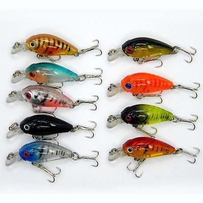 Lot 5pcs Kinds of Fishing Lures Crankbaits Fish Hooks Minnow Baits Tackle New PI A