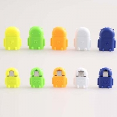 OTG TO MICRO USB CABLE ROBOT PENDANT ADAPSER FOR ANDROID SAMSUNG S4 S5 S6 S7  TT A