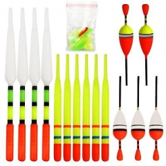 Outdoor UJorting 15 Pcs Vertical Buoy Fishing Bobber Plastic Float Tackle Set SH As picture