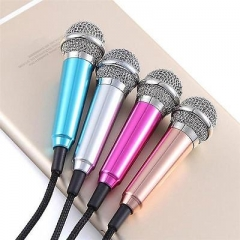 New 3.5mm Wired Clip On Mini Lapel Mini Headset Microphone For Sing Song  OK Blue