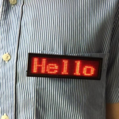 Red LED Programmable Scrolling Bar Badge Name Tag Message Display Sign BoarG As Picture