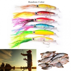 New Size 14cm Fishing Lures 40g 3D Soft Lure Octopus Squid Hook Catch Tool As picture