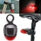 Solar Powered Rear Tail Light Red LED Lamp For Road Bicycle Cycling Safety IP A