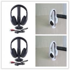 5in1 Wireless Headphone Earphone Cordless Headset for MP3 PC Stereo TV FM iPod T Black