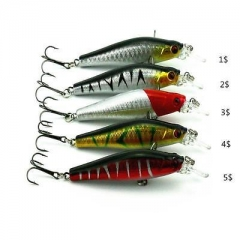 Diving Minnow Floating Lure Hard Bait Fishing Tackle Crankbait Pike 8cm 8.9g GS As picture