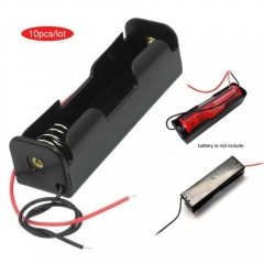 10pcs high quality Battery Storage Case Holder for 3.7V18650x1 Batteries w/Wire~ As Picture