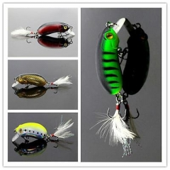 New 1Pcs Sequin False Hook Lures Fishing Lure Tackle Crankbaits Baits 6cm XU As picture