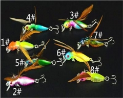 NEW Design Hard Plastic Cicada Insect Fishing Lures CrankBaits 4.5cm/3.4g IP As picture