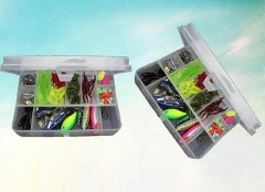 101pcs set fishing Lures Bass CrankBait Spoon Crank Bait for all water layer ZI As picture