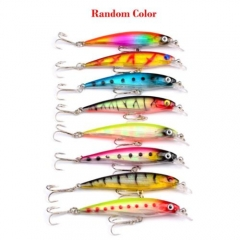 1pcs Fishing Lure Crank Bait Hooks Minnow Bass Crankbait Fishing Tackle~ As pic 1