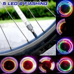 2x 5 LED Flash Light Bicycle Motorcycle Car Bike Tyre Tire Wheel Valve Lamp GG A