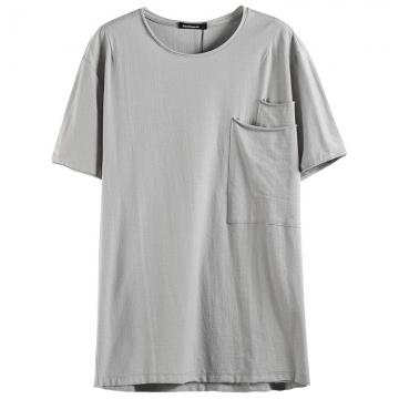 ea1e6f06539833 GustOmerD Big Pocket Decorated T Shirt