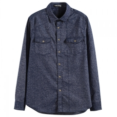 GustOmerD Brand 2017 Autumn Winter New Fashion Design Shirt Men Special Fabric Soft Warm blue size S 50 to 55kg