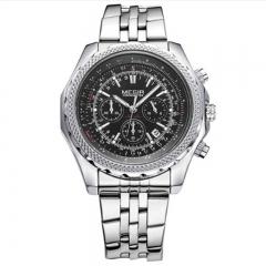 MEGIR 2018 Original Business Men Watch Stainless Steel Mens Quartz Wristwatch Top Brand Luxury Clock 1