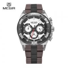 MEGIR 2018 Sport Watches Chronograph Quartz Watch Luminous Running Wristwatch Male Business Watch M3009 ZG1B